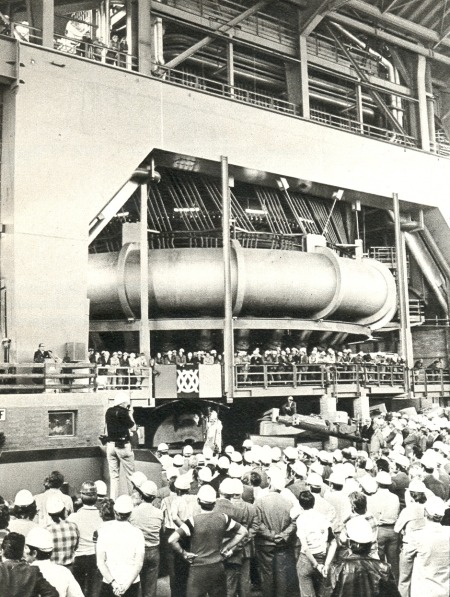 Commissioning of Blast Furnace A (1977)