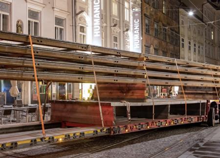 Graz Linien tram rails installation