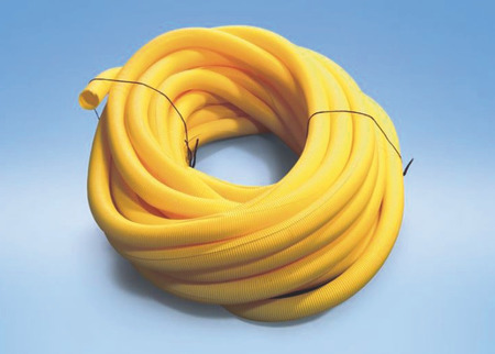 Cable protection conduit yellow