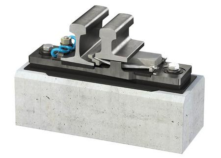 Inner stock rail fastening