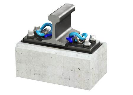 Elastic rail fastening system skl