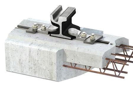 Alternative rail fastening system