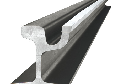 Guide Rail with welded-in 400 HB Strip