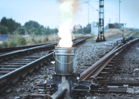 Joint welding of rails