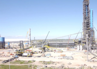 Direct reduction plant voestalpine Texas timelapse